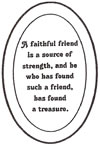"L1017 4x6"" 5mm Oval Engraved FRIEND - Set of 3"