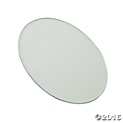 3mm Oval Small Beveled Mirrors - SET OF 6