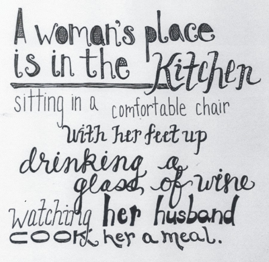 A WOMANS PLACE IS IN THE KITCHEN110017