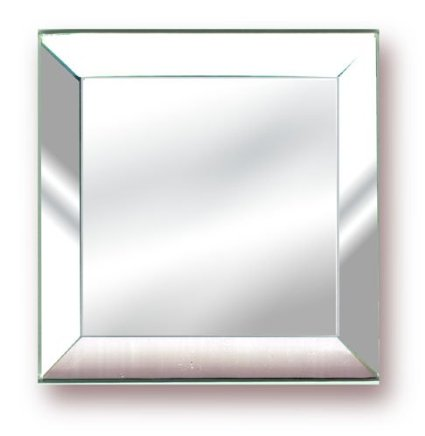 5mm Square Extra Large Beveled Mirror/Feet